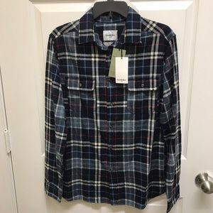 NWT Goodfellow & Co Plaid Flannel Shirt Size M